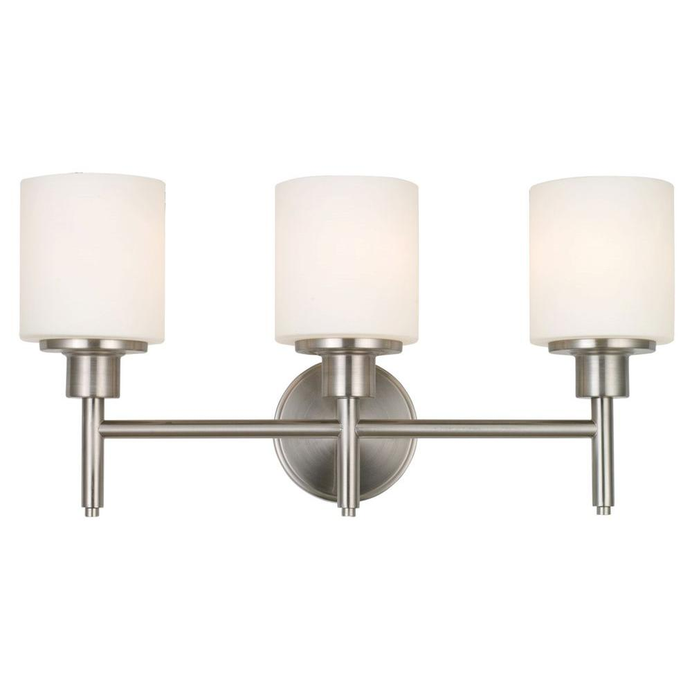 Design House Aubrey 3 Light Brushed Nickel Vanity