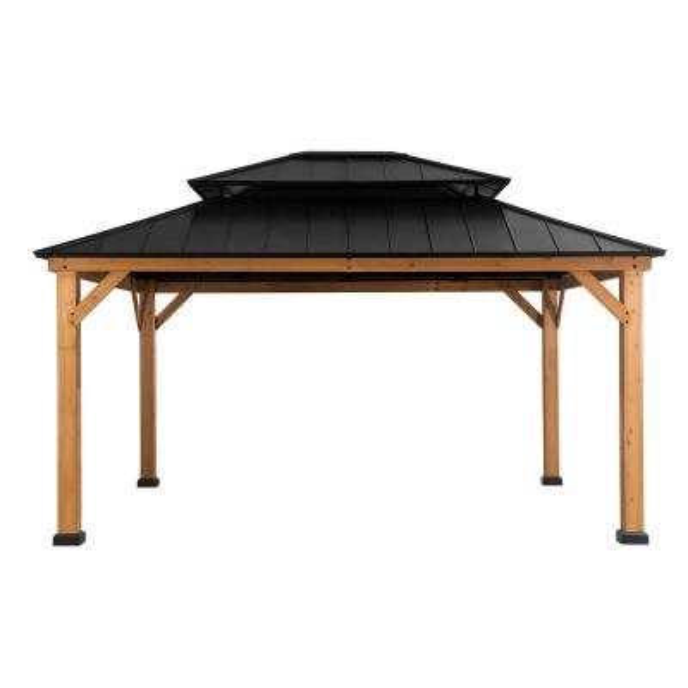 Archwood 12 ft. x 14 ft. Cedar Framed Gazebo with Steel Hardtop