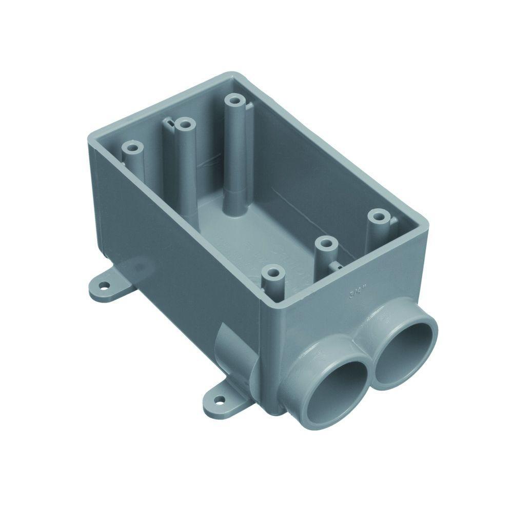 1/2 in. 1-Gang PVC FS Box (12 per Case)