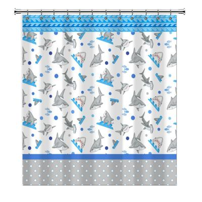 Fish'n Sharks 72 in. Mini Polka Dot Shower Curtain