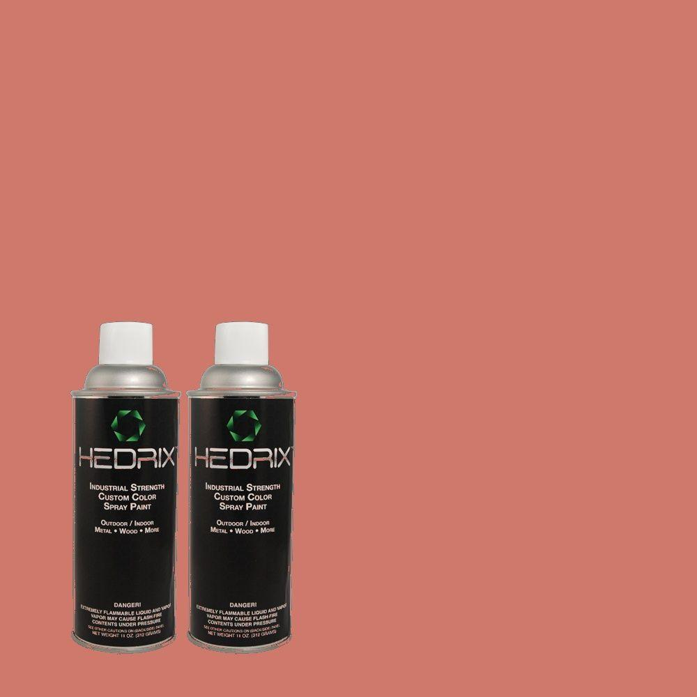 Hedrix 11 oz. Match of 150D-5 Deep Bloom Flat Custom Spray Paint (2-Pack)