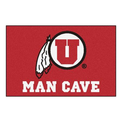 University of Utah Red Man Cave 2 ft. x 3 ft. Area Rug