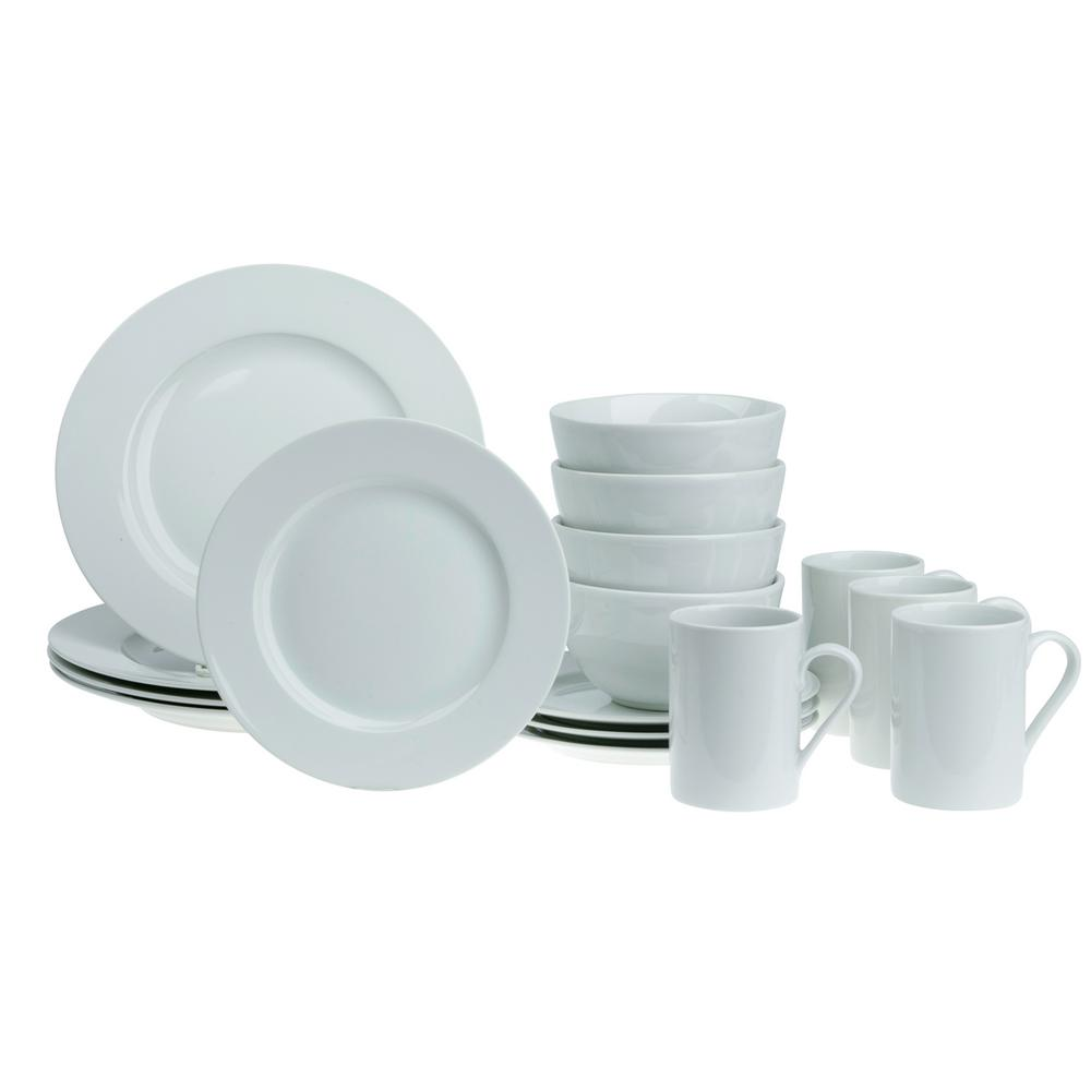 Tabletops Gallery 16-Piece White Soleil Round Dinnerware Set  sc 1 st  The Home Depot & Tabletops Gallery 16-Piece White Soleil Round Dinnerware Set-TTU ...