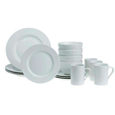 16-Piece White Soleil Round Dinnerware Set