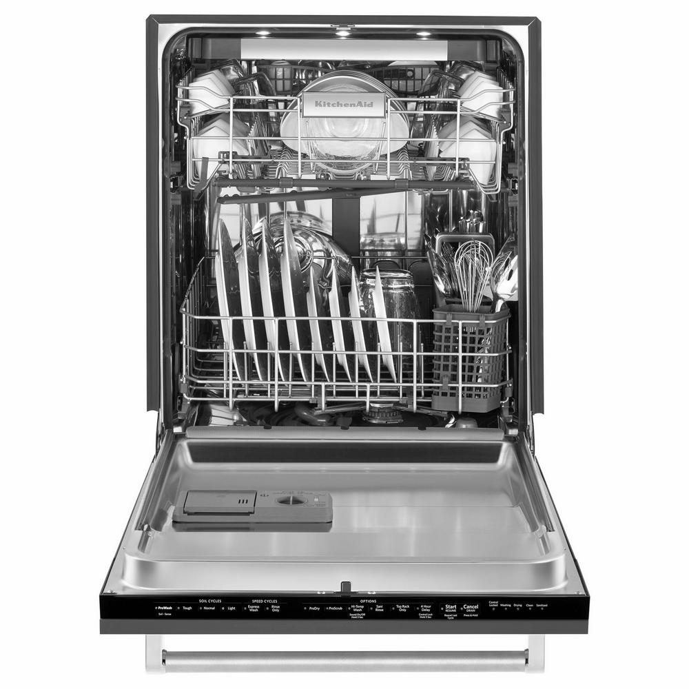 KitchenAid Top Control Tall Tub Dishwasher in Panel Ready with Stainless  Steel Tub, 44 dBA