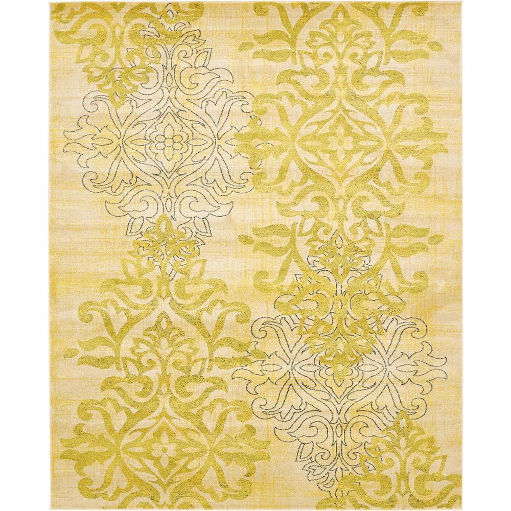 Unique Loom Damask Cream 8 Ft X 10 Ft Area Rug 3131933
