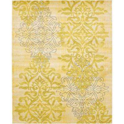 Damask Energetic Cream 8' 0 x 10' 0 Area Rug