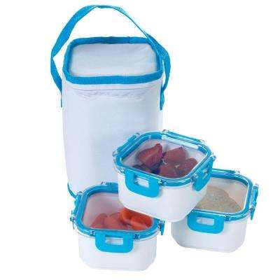 Portable Food Storage with Insulated Bag (Set of 3)