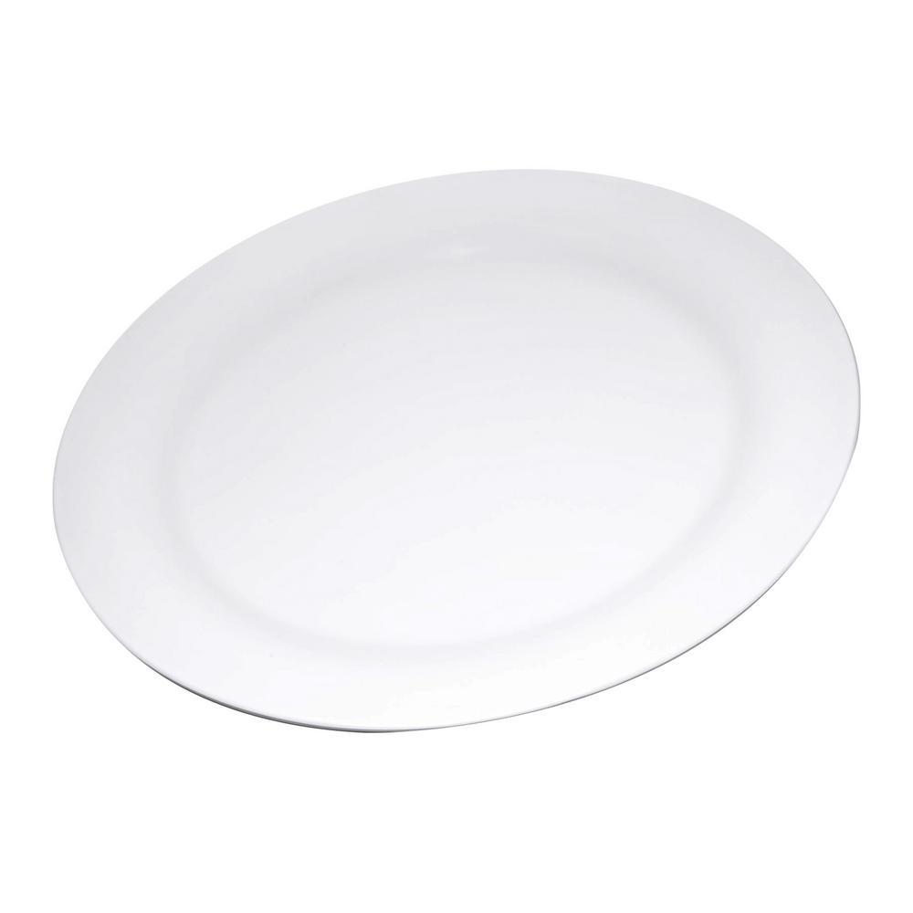 Carlisle Durus 9 in. White Melamine Narrow Rim Dinner Plate (24-Pack)