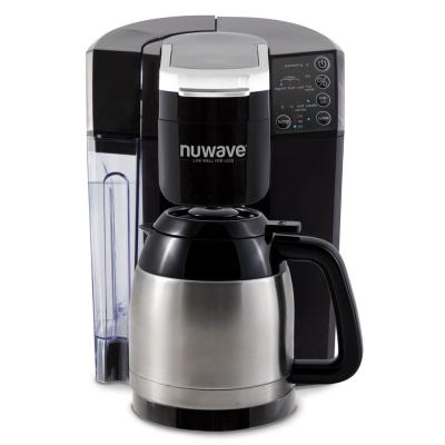 Bruhub Stainless Steel Single Serve Drip Coffee Maker with Carafe