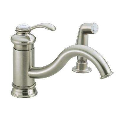 Fairfax Single-Handle Standard Kitchen Faucet with Sidespray and Less Escutcheon in Vibrant Brushed Nickel