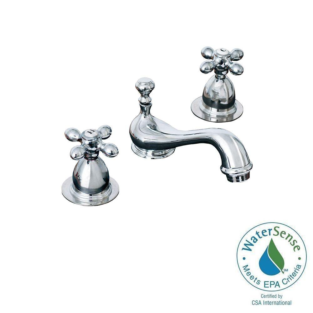 Elizabethan Classics Bradsford 4 In Minispread 2 Handle Mid Arc Bathroom Faucet In Chrome