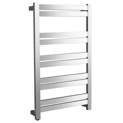 Malibu Series 10-Bar Stainless Steel Wall Mounted Electric Towel Warmer in Polished Chrome