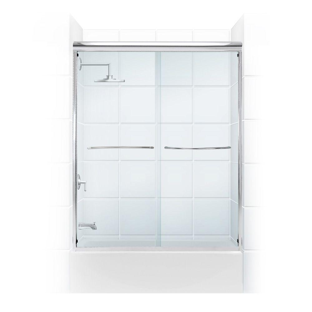 Paragon 1/4 Series 60 in. x 58 in. Semi-Framed Sliding Tub