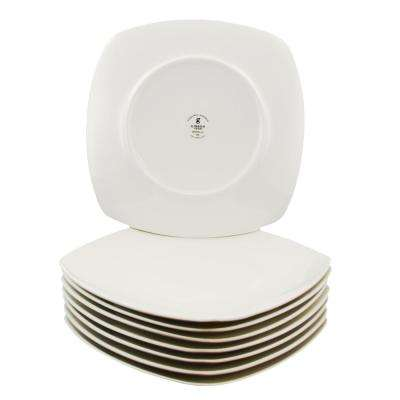 Zen Buffetware White Square Dinner Plates (Set of 8)
