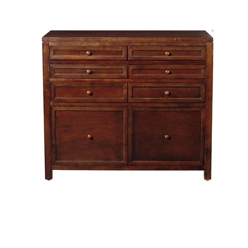 Martha Stewart Living Craft Space Sequoia Brown Wooden 8 Drawer Storage