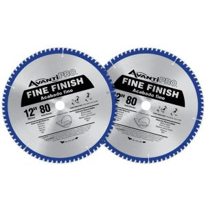 Avanti Pro 12 inch x 80-Tooth Fine Finish Saw Blade (2-Pack) by Avanti Pro