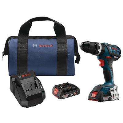 18-Volt Lithium-Ion 1/2 in. Cordless EC Brushless Compact Tough Hammer Drill/Driver Kit
