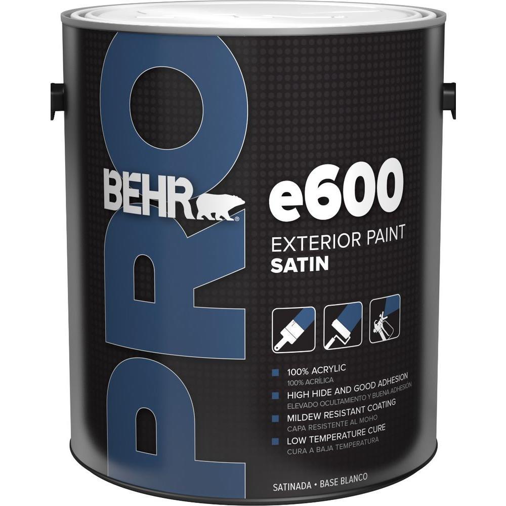 1 gal. e600 White Satin Enamel Exterior Paint