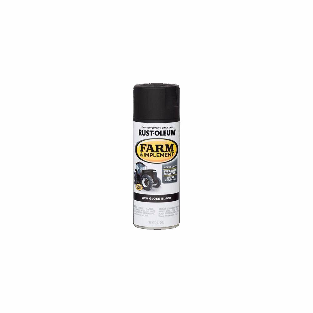Rust-Oleum 12 oz  Farm Equipment Low Gloss Black Enamel Spray Paint (6-Pack)