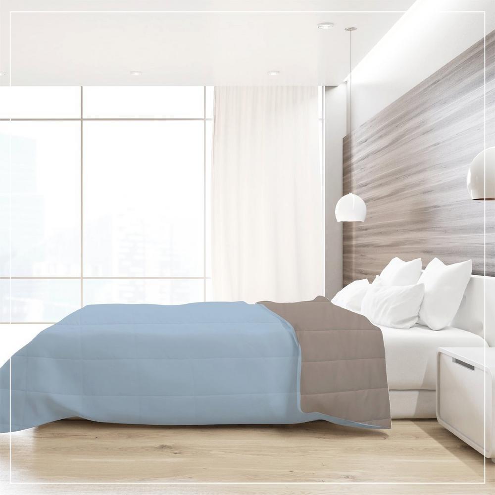 A1Hc Medium Warmth Blue/Khaki Full/Queen Down Alternative Comforter