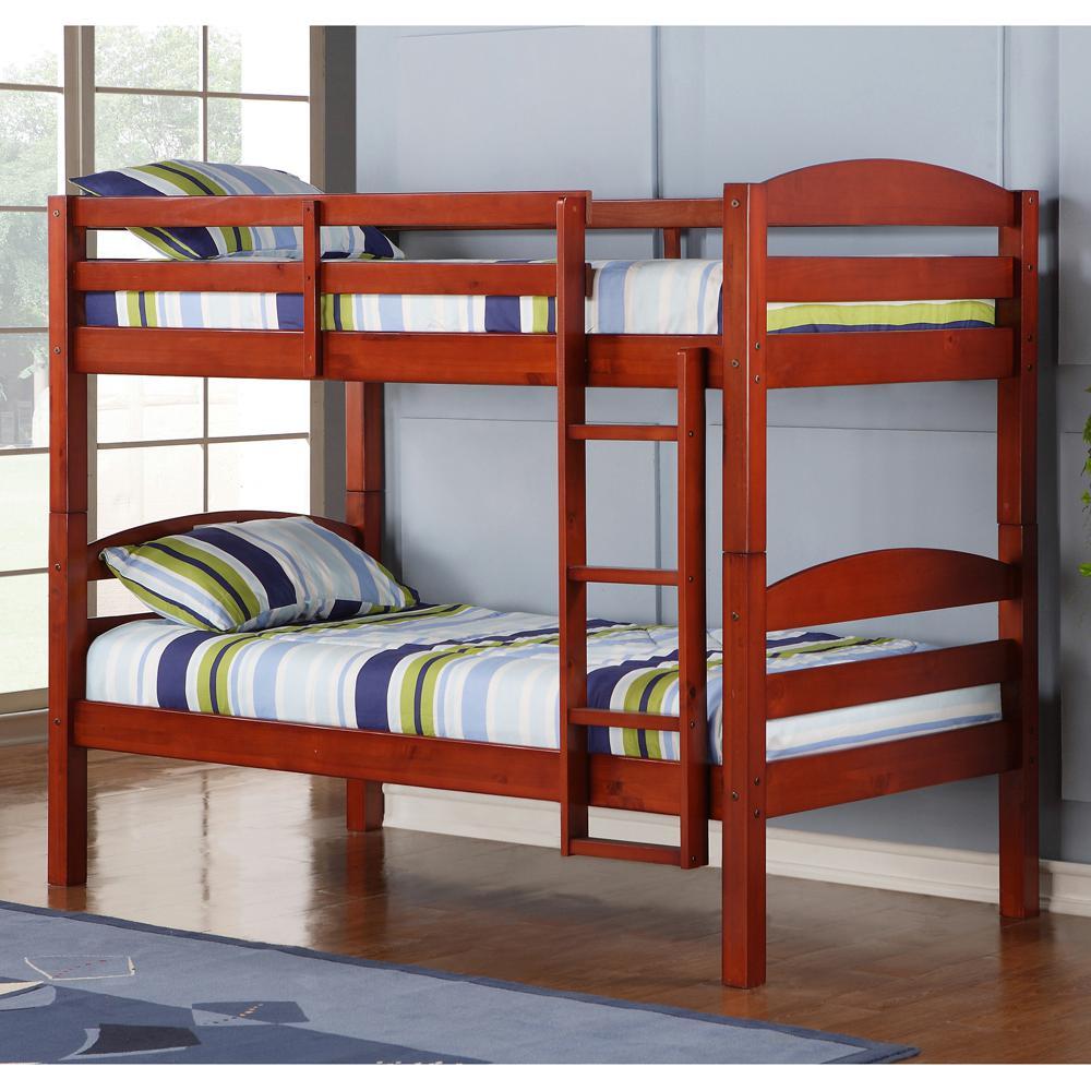 Carolina Twin Over Twin Wood Bunk Bed
