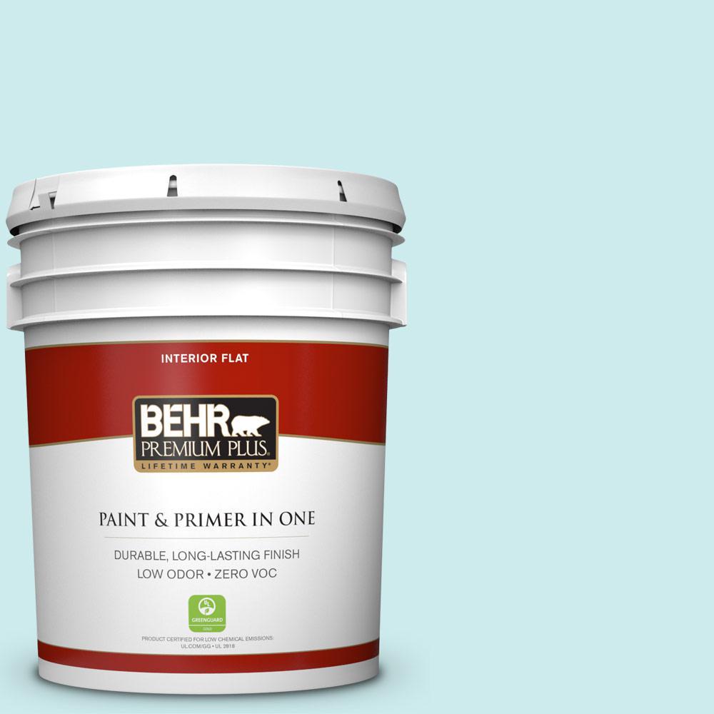 BEHR Premium Plus 5-gal. #520C-2 Fountain Spout Zero VOC Flat Interior Paint