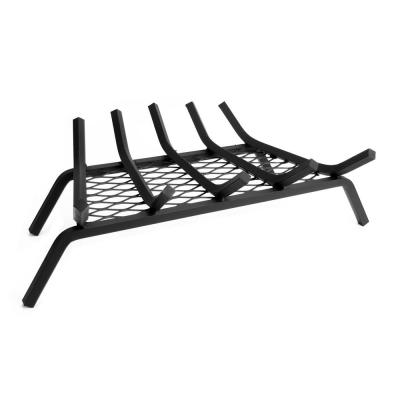 1/2 in. 21 in. 5-Bar Steel Fireplace Grate with Ember Retainer