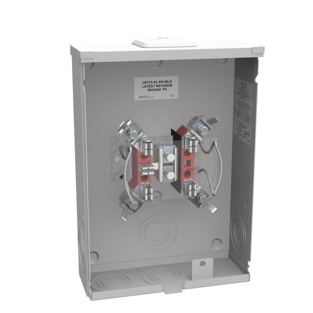 200-Amp 5 Terminal Ringless Overhead/Underground Horn Bypass Meter Socket
