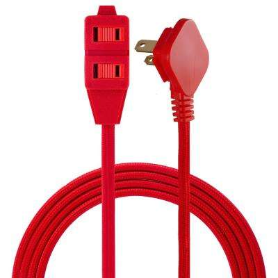 8 ft. 3 Polarized Outlet Basic Extension Cord, Red