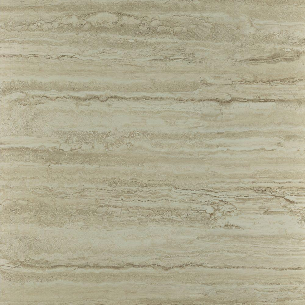 TrafficMASTER Ceramica Roman Travertine Beige 12 in. x 12 in. Vinyl Tile Flooring (29 sq. ft. / case)