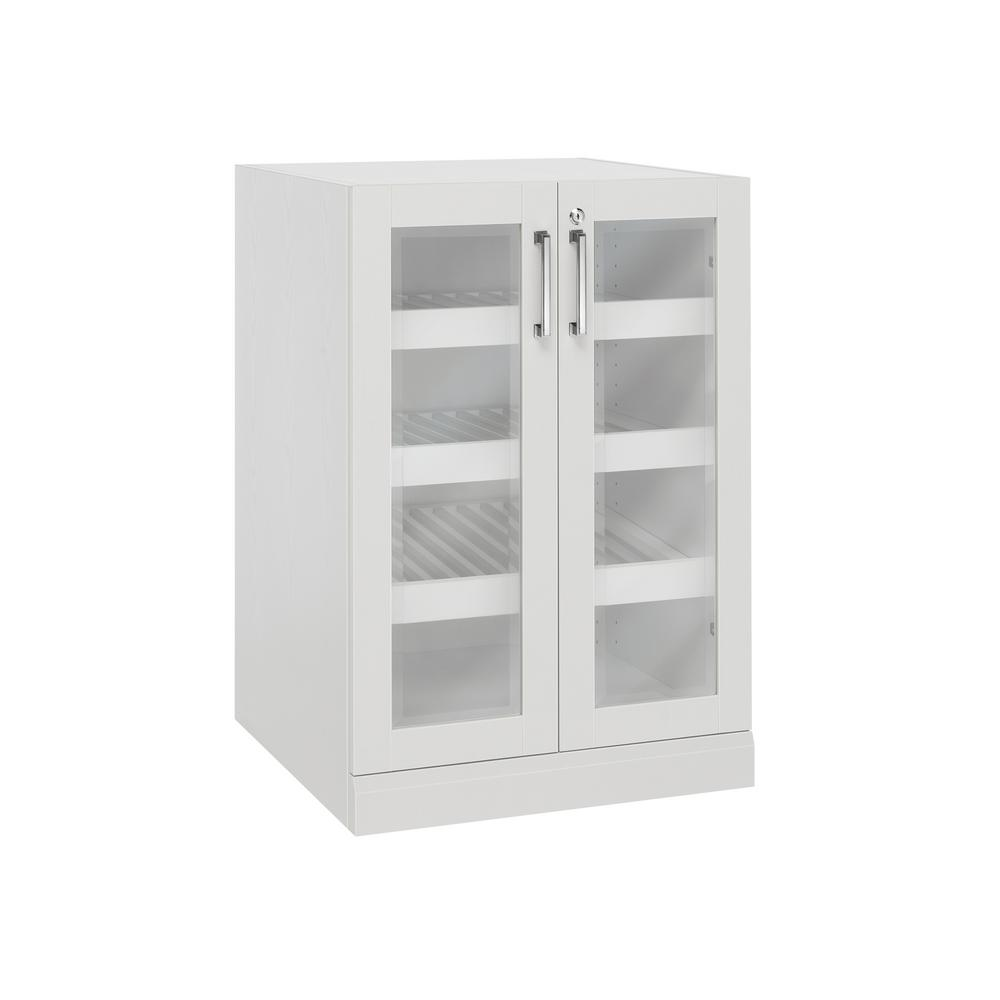 NewAge Products Home Bar White 24 in. Display Cabinet-60006 - The ...