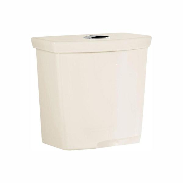 American Standard H2Option 0.92/1.28 GPF Dual Flush Toilet Tank Only with Liner in Linen
