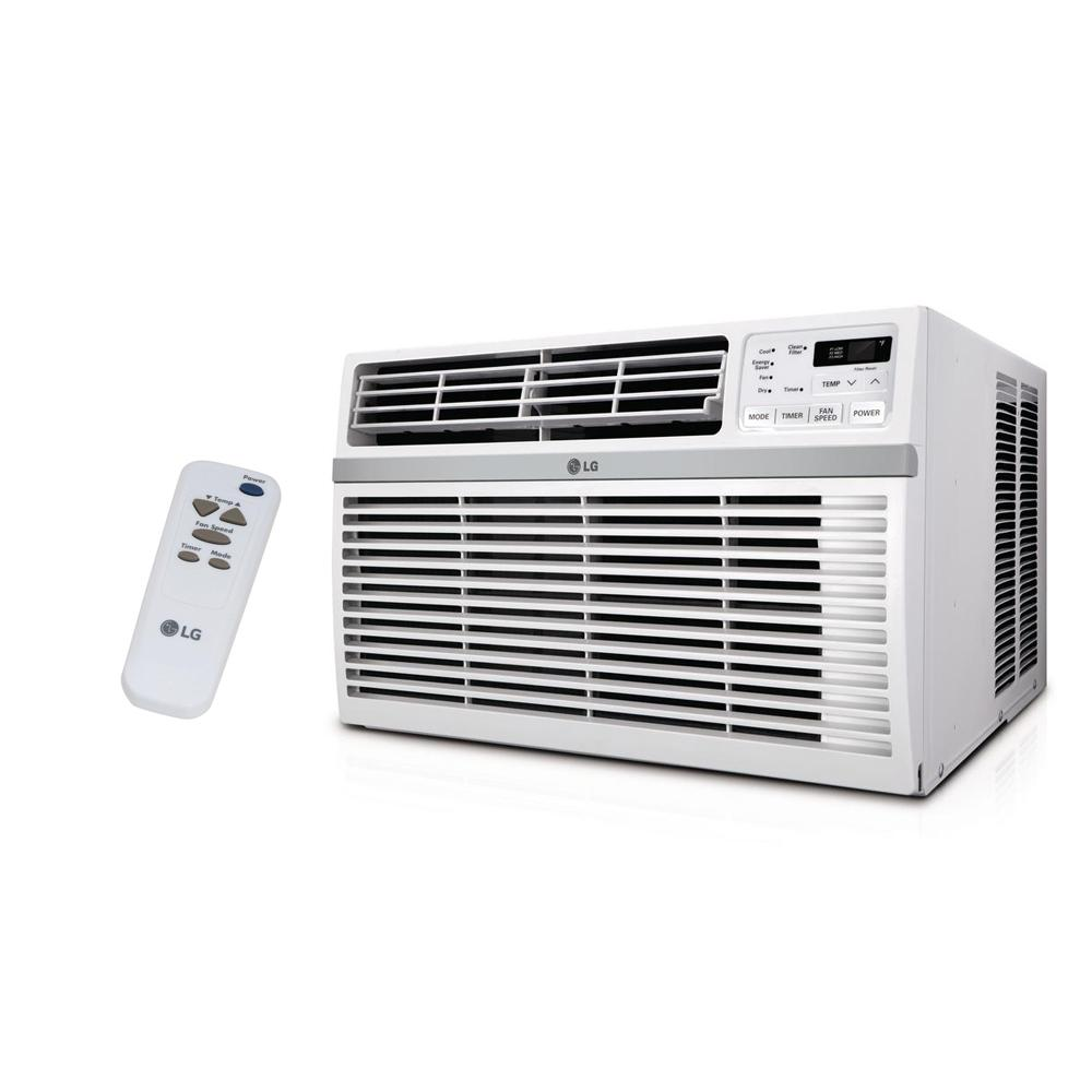 LG Electronics 12,000 BTU 115-Volt Window Air Conditioner with Remote and ENERGY STAR in White