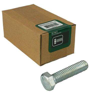 1/4 in. -20 tpi x 1 in. Zinc-Plated Hex Bolt (100-Piece per Box)