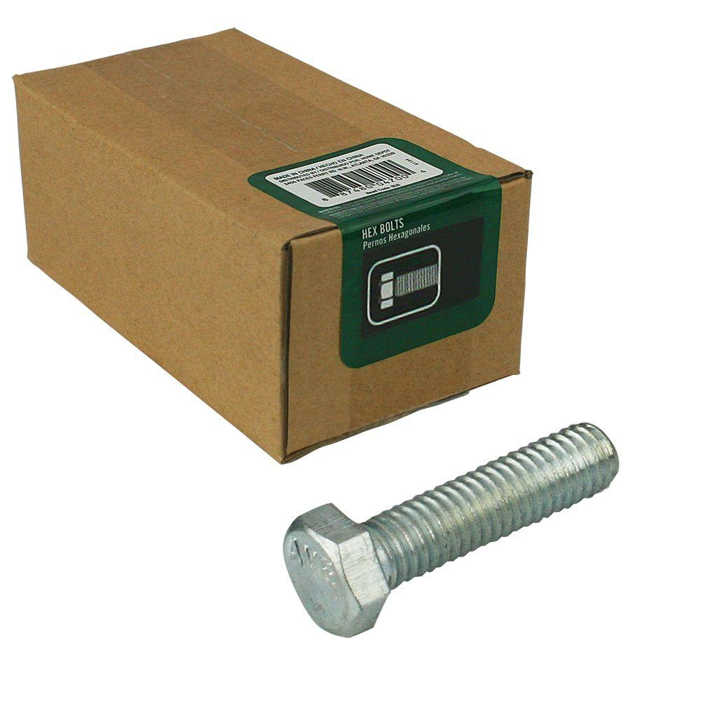 null 1/4 in. -20 tpi x 3/4 in. Zinc-Plated Hex Bolt (100-Piece per Box)