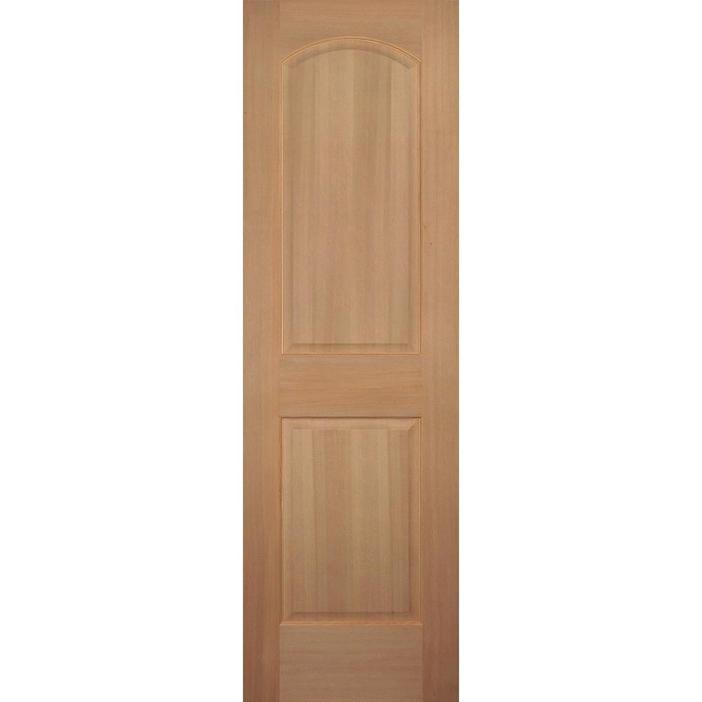 Builder's Choice 24 in. x 80 in. 2-Panel Arch Top Stain Grade Wood Hemlock Interior Door Slab