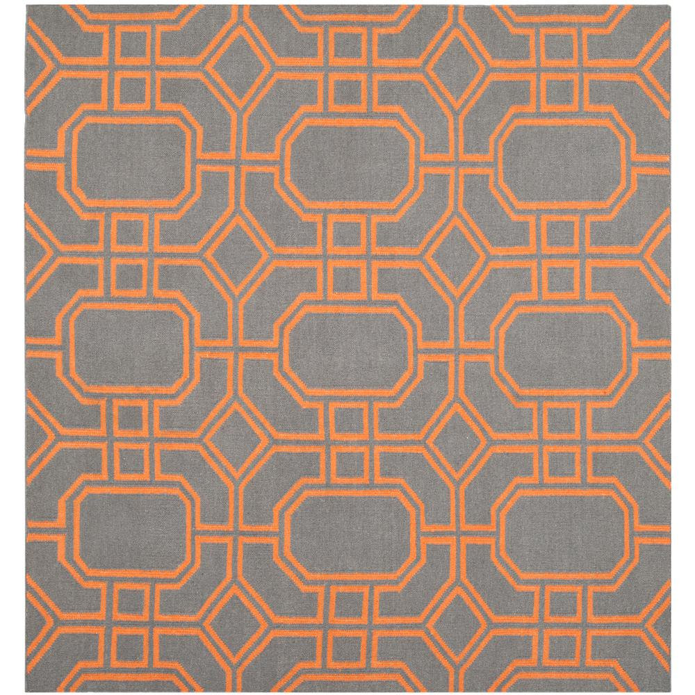 safavieh dhurries blue orange 6 ft x 6 ft square area rug dhu860b 6sq the home depot. Black Bedroom Furniture Sets. Home Design Ideas