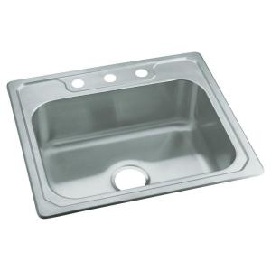 Sterling Middleton Drop-in Stainless Steel 25 inch 3-Hole Single Bowl Kitchen Sink by STERLING