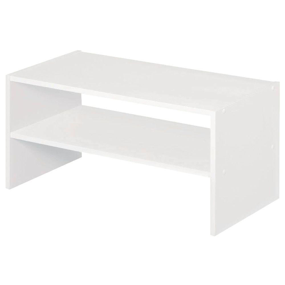 Ordinaire White Stackable Storage Organizer