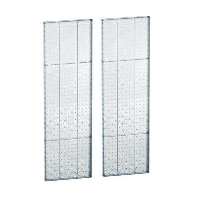 44 in. H x 13.5 in. W Pegboard Styrene in Clear (2-Piece per Box)