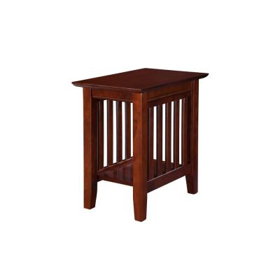 Mission Walnut Chair Side Table