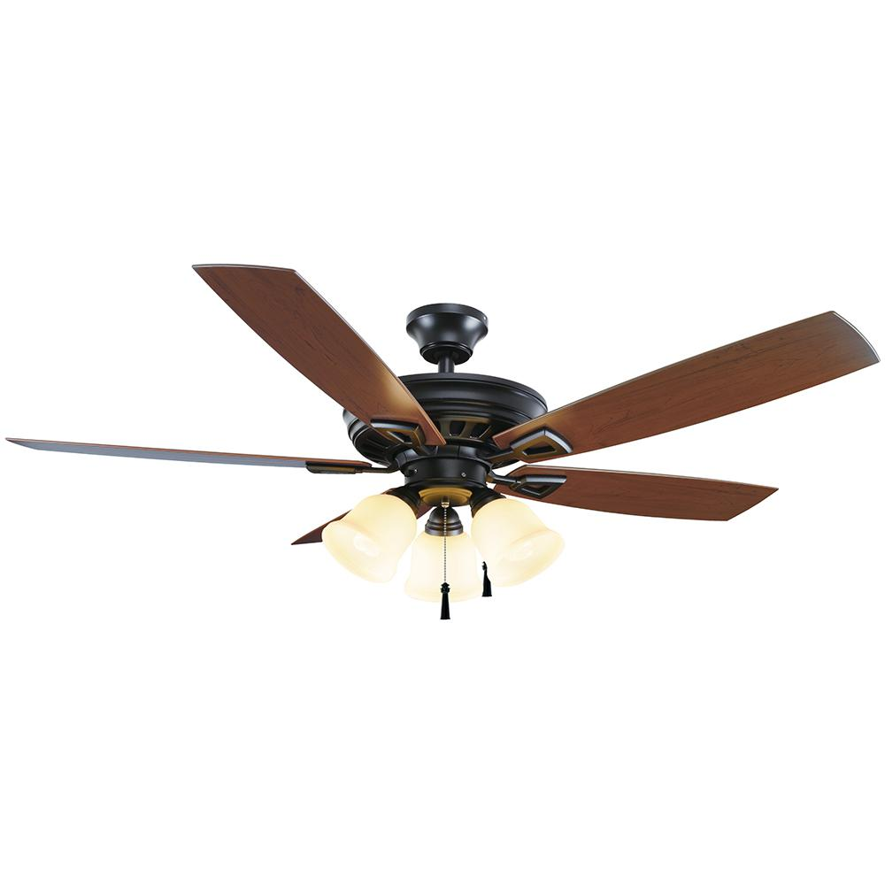 "52"" Ceiling Fan With LED Light Kit Indoor Outdoor Home"