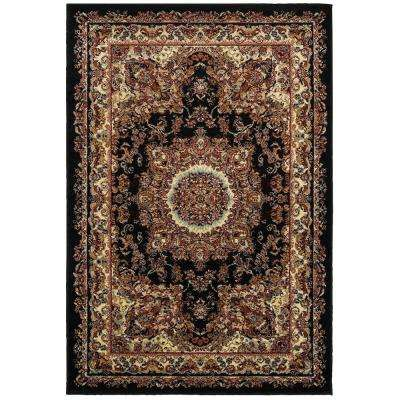 Grace Black/Cream 4 ft. x 6 ft. Plush Indoor Area Rug