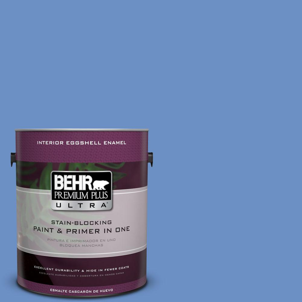 BEHR Premium Plus Ultra Home Decorators Collection 1-gal. #HDC-MD-02 Lapis Lazuli Eggshell Enamel Interior Paint