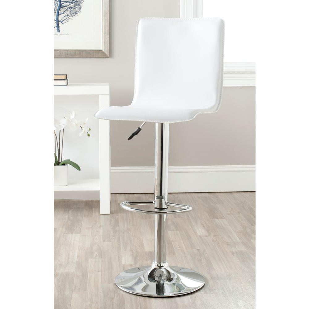 Magda Adjustable Height Chrome Swivel Cushioned Bar Stool