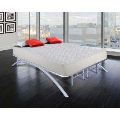 Queen-Size Dome Arc Platform Bed Frame in Silver