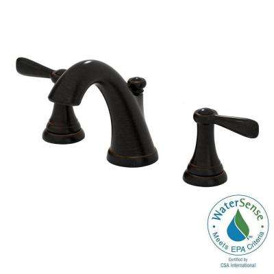 Marquette 8 in. Widespread 2-Handle Mid-Arc Bathroom Faucet in Estate Bronze