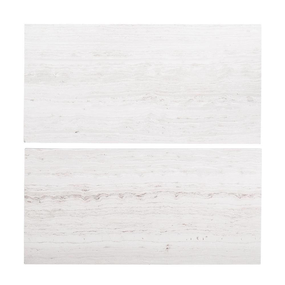6 in. x 12 in. Honed Limestone Field Wall Tile (2-pieces