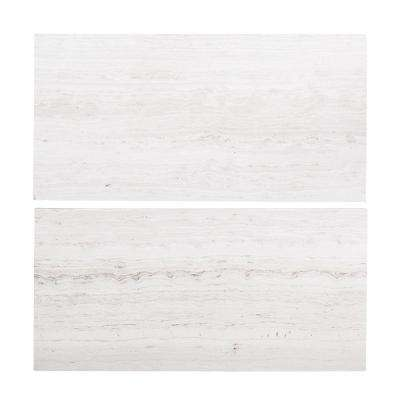 Limestone Gray 6 in. x 12 in. Honed Limestone Floor and Wall Tile (1 sq. ft. / pack)
